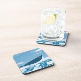 Arctic Whale Beverage Coaster