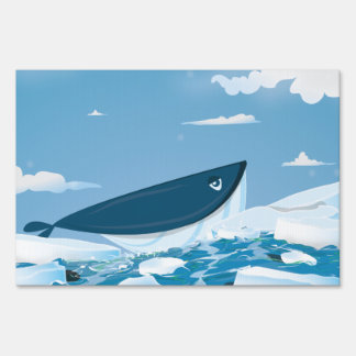 Arctic Whale Lawn Sign