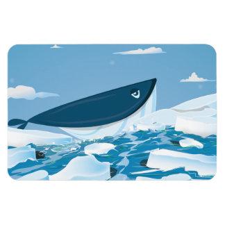 Arctic Whale Vinyl Magnet