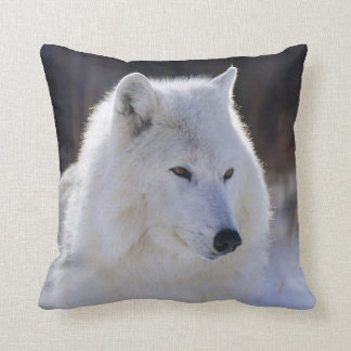Arctic White Wolf Pillow