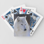 Arctic White Wolf Playing Cards Bicycle Playing Cards