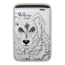 Arctic White Wolves Wild Animal Design MacBook Sleeve