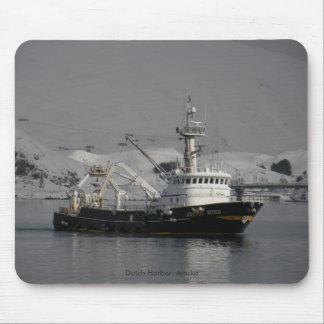 Arctic Wind, Fishing Trawler in Dutch Harbor, AK Mouse Pad