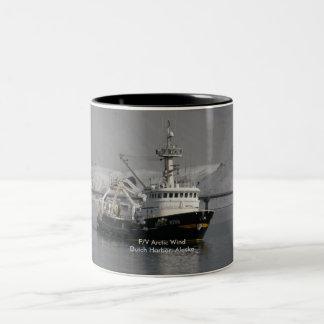Arctic Wind, Fishing Trawler in Dutch Harbor, AK Two-Tone Coffee Mug