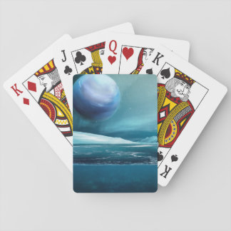Arctic Winter Night Moon, Poker Size Playing Cards