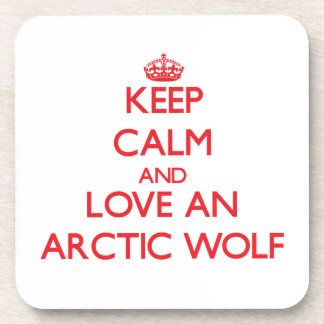 Arctic Wolf Drink Coasters