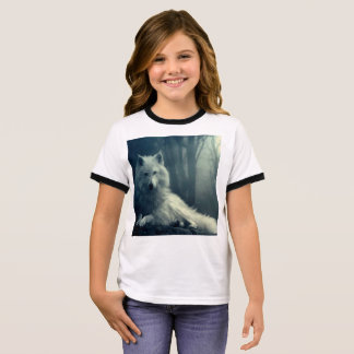 Arctic wolf - forest wolf - snow wolf - white wolf ringer T-Shirt