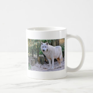 Arctic Wolf in the forest Classic White Coffee Mug