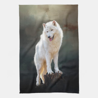 Arctic wolf kitchen towel