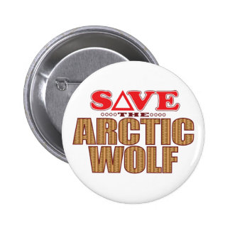 Arctic Wolf Save Pinback Button