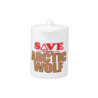 Arctic Wolf Save Teapot