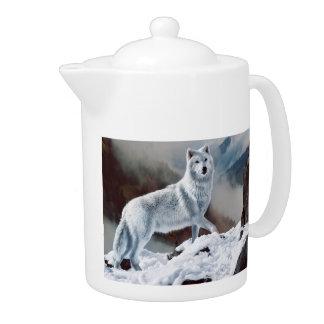 Arctic Wolf Teapot