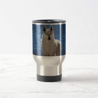 Arctic Wolf Travel Mug