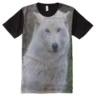 Arctic Wolf Wildlife Supporter Gift All-Over Print T-shirt