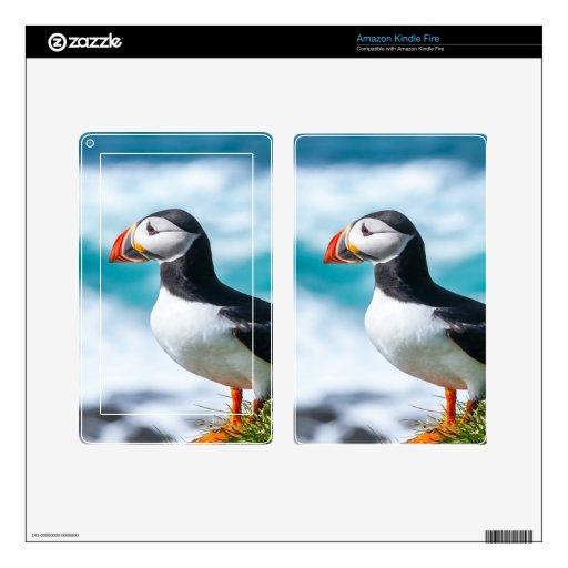 Arctica del Fratercula del frailecillo en Látrabja Pegatina Skin Para Kindle Fire