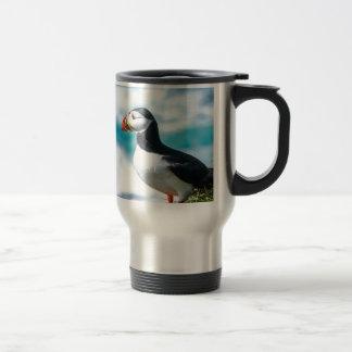 Arctica del Fratercula del frailecillo en Látrabja Tazas De Café