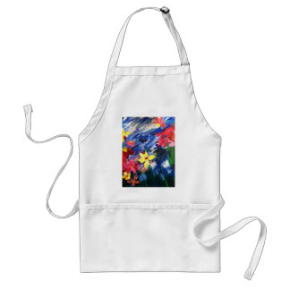 Arcylic Paper Collage Art Painting Adult Apron