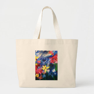Arcylic Paper Collage Art Painting Jumbo Tote Bag