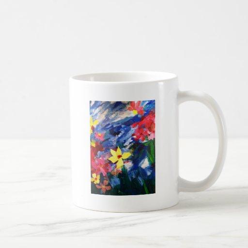 Arcylic Paper Collage Art Painting Coffee Mug