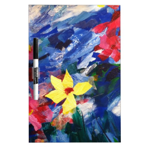 Arcylic Paper Collage Art Painting Dry-Erase Whiteboard