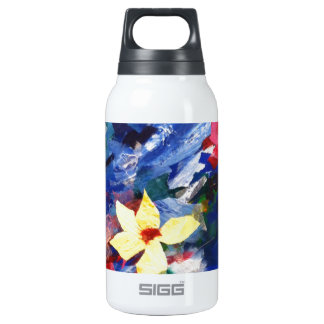 Arcylic Paper Collage Art Painting Insulated Water Bottle