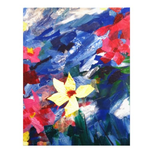 Arcylic Paper Collage Art Painting Letterhead