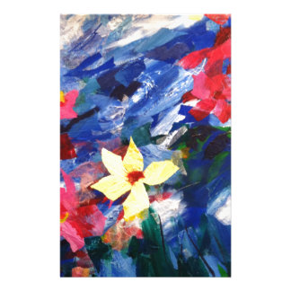 Arcylic Paper Collage Art Painting Personalized Stationery