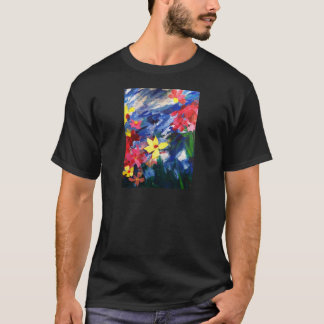 Arcylic Paper Collage Art Painting T-Shirt