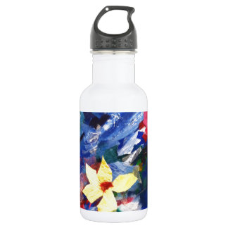 Arcylic Paper Collage Art Painting Water Bottle