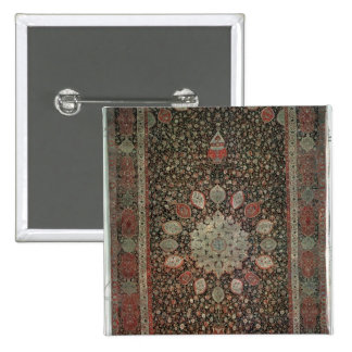 Ardabil carpet made for the mosque at Ardabil 2 Inch Square Button