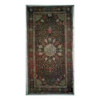 Ardabil carpet made for the mosque at Ardabil Poster
