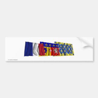 Ardèche, Rhône-Alpes & France flags Bumper Sticker