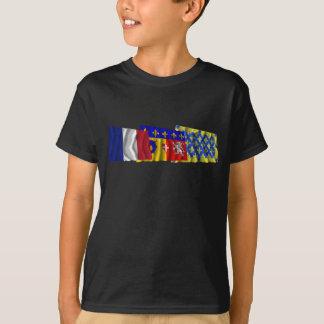 Ardèche, Rhône-Alpes & France flags T-Shirt