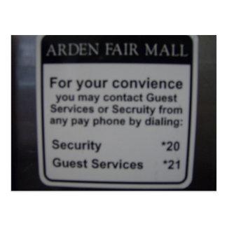 Arden Fair Mall postcard
