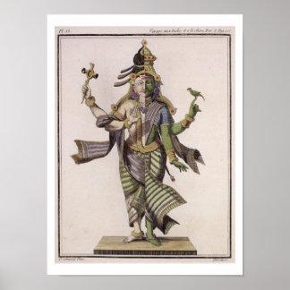 Ardhanarishvara, del 'viaje Indes aux. y de un la  Póster