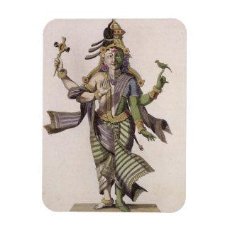 Ardhanarishvara, del 'viaje Indes aux. y de un la  Rectangle Magnet