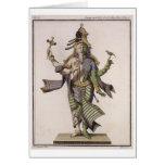Ardhanarishvara, del 'viaje Indes aux. y de un la  Tarjeta De Felicitación