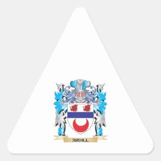 Ardill Coat Of Arms Triangle Sticker