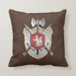 Ardilla Brown del escudo de la batalla Cojin