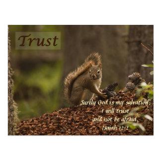 Ardilla - confianza tarjeta postal