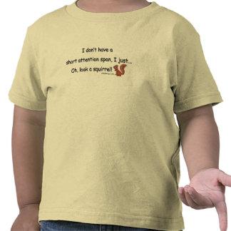 Ardilla corta de la capacidad de concentración camisetas