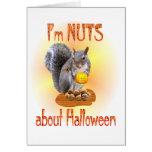 Ardilla de Halloween Felicitaciones