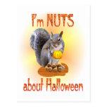 Ardilla de Halloween Postal