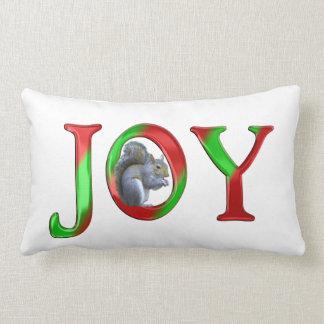 Ardilla de la alegría del navidad almohada