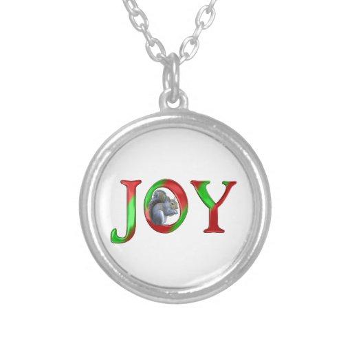 Ardilla de la alegría del navidad colgante redondo