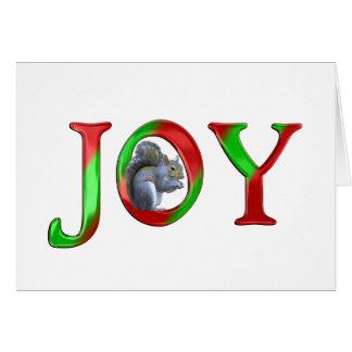 Ardilla de la alegría del navidad tarjeta de felicitación