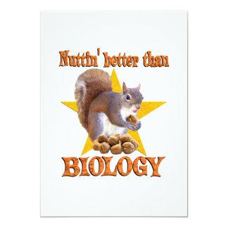 """Ardilla de la biología invitación 5"""" x 7"""""""