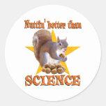 Ardilla de la ciencia pegatina redonda