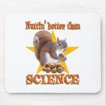 Ardilla de la ciencia tapetes de raton