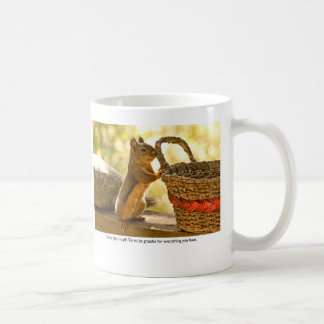 Ardilla de la gratitud taza de café